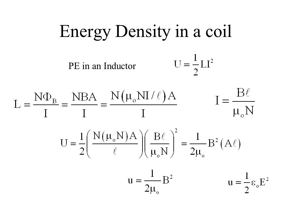 Energy Density in a coil