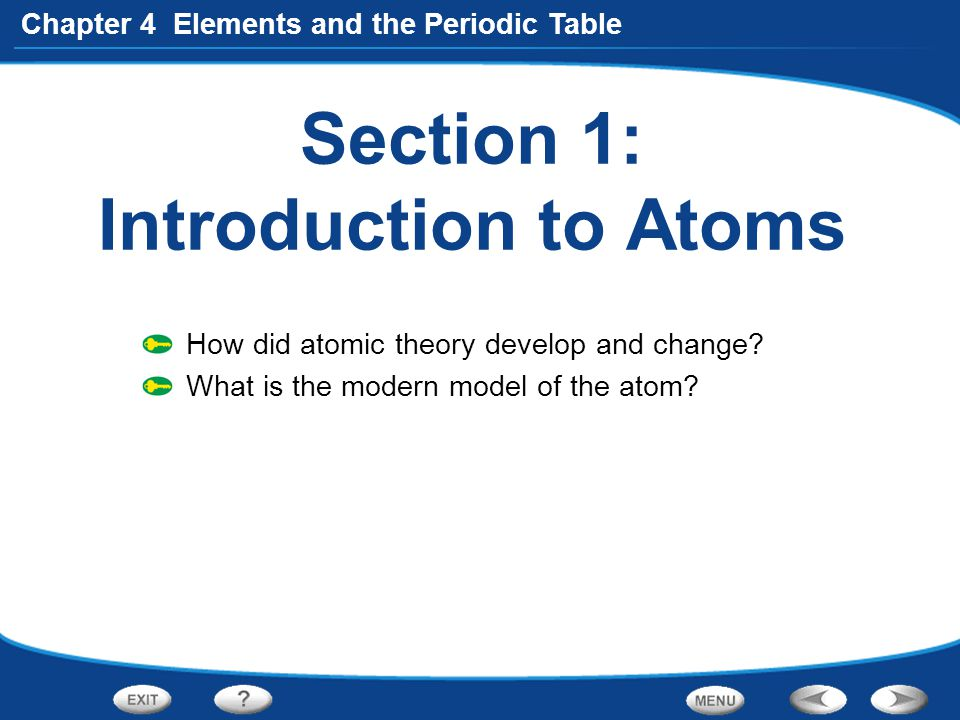 Section 1: Introduction to Atoms