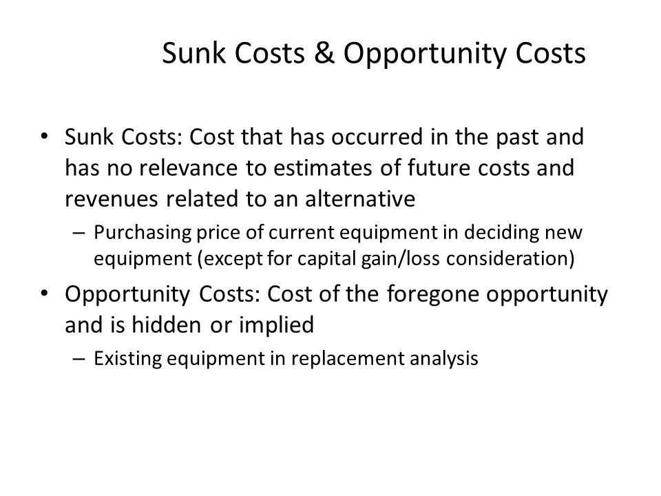 opportunity cost of capital pdf