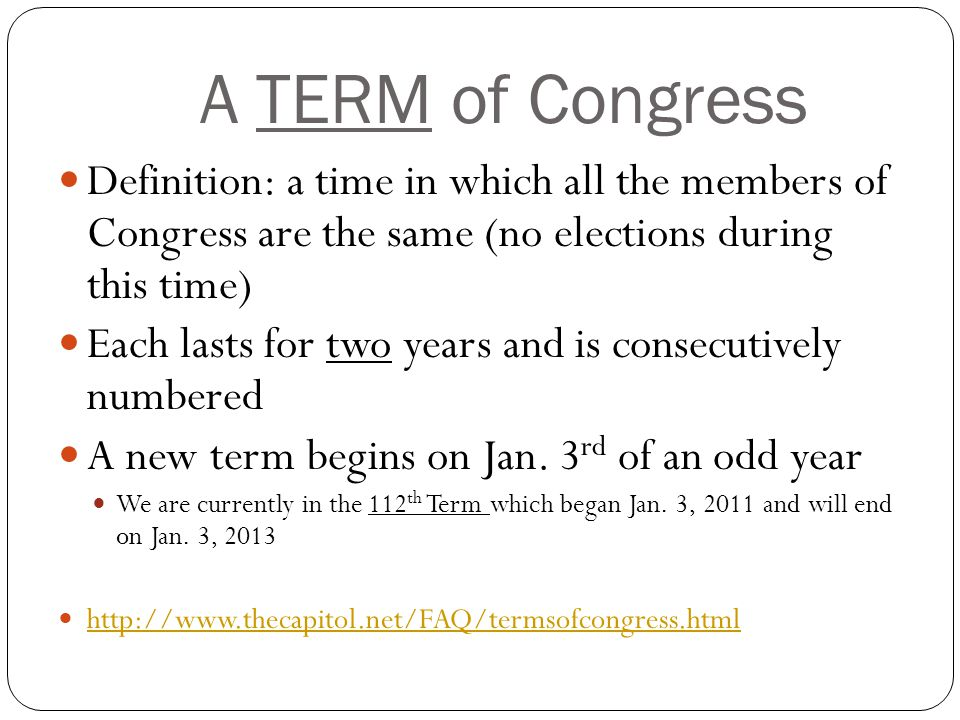 Congressional term definition
