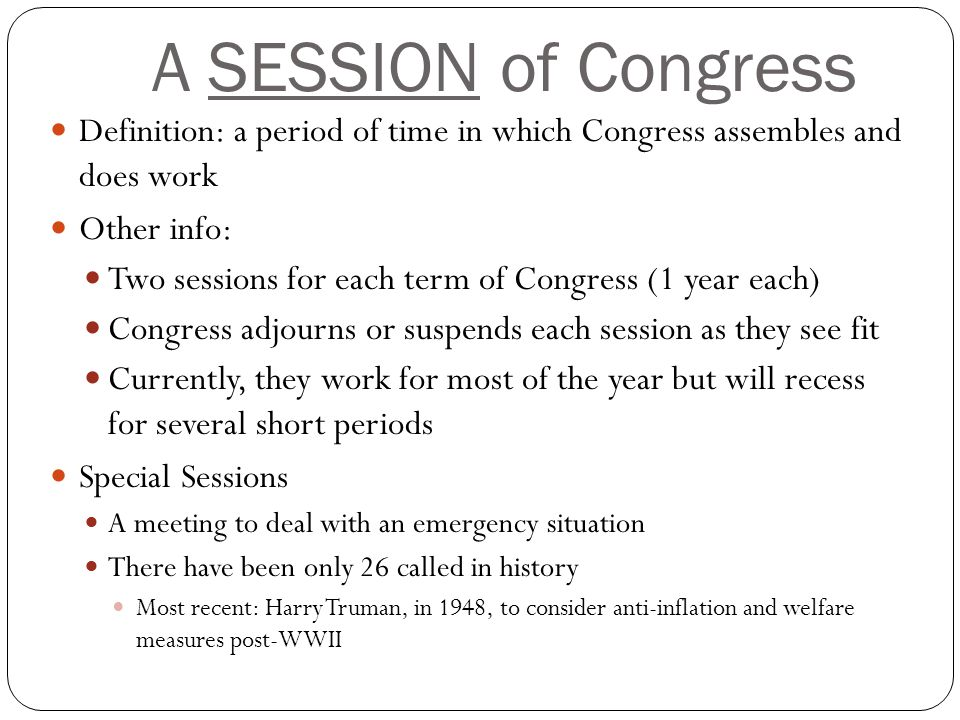 Term of congress length