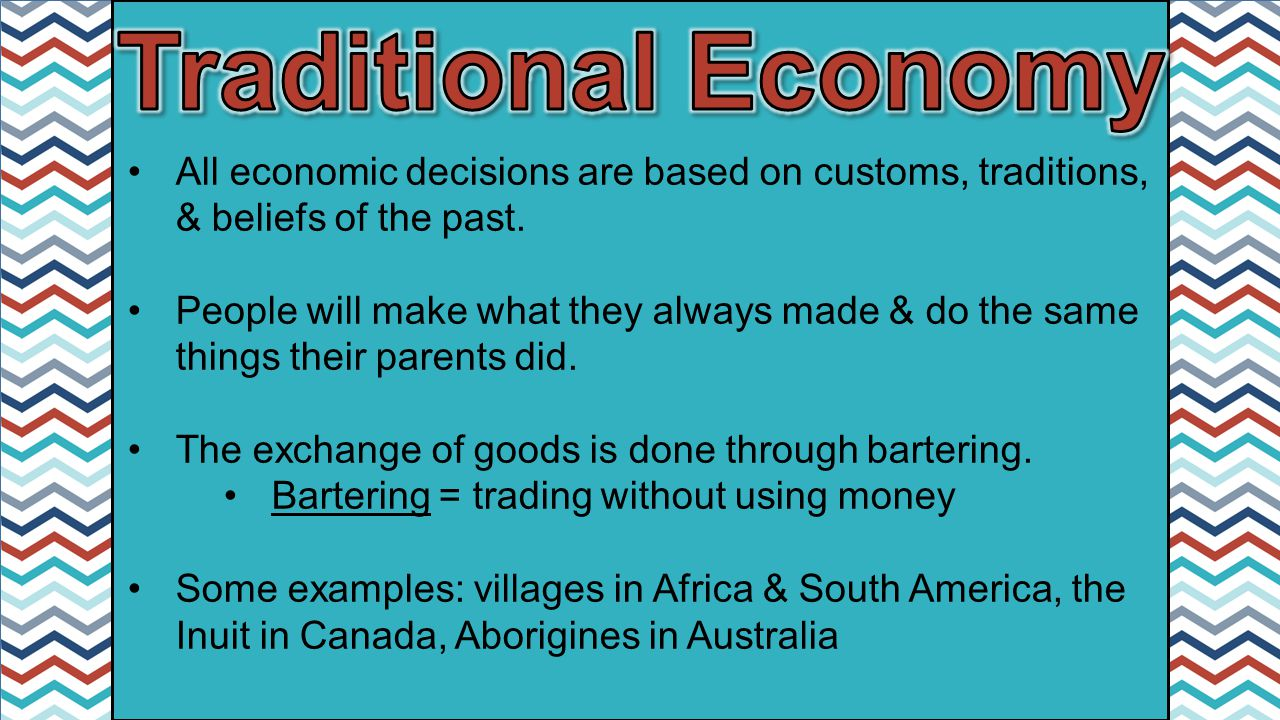 Traditional Economy Definition Examples Pros Cons 3271891