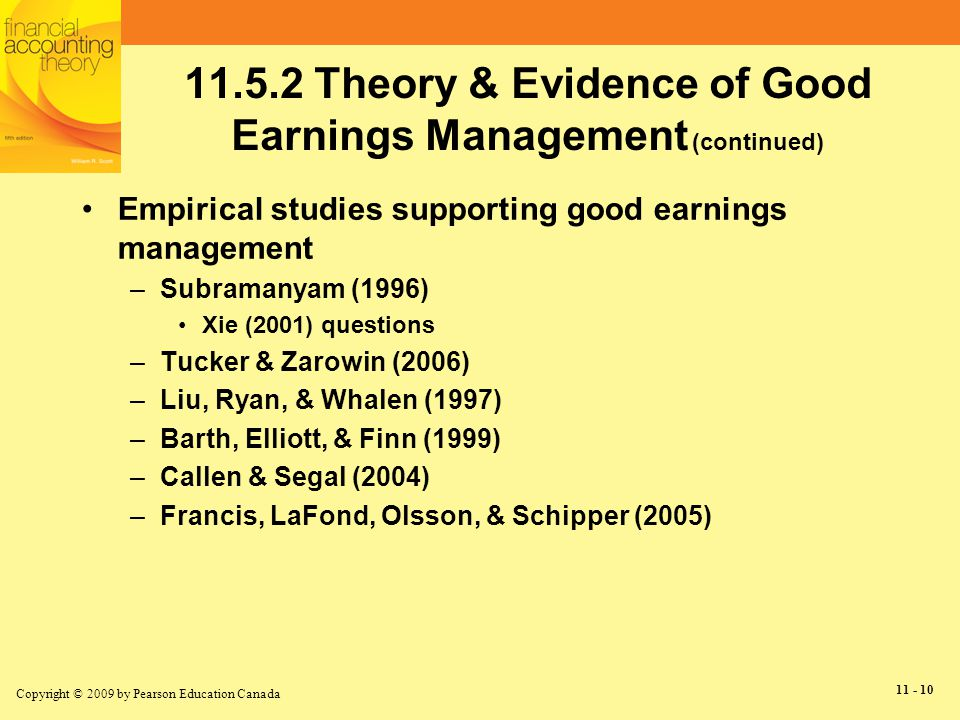 earning management is it good or This research is done for the purpose of finding out the effect of good  governance practice can reduce earnings management practice done by.