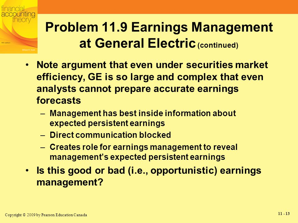 earnings management is in the best Here is an explanation of the three most common business valuation methods to  so to ensure that you set and get the best price  in a management issues.