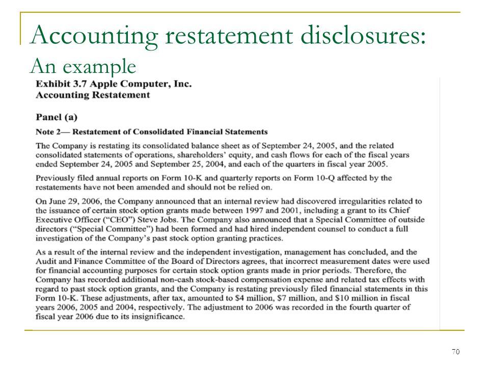 financial restatement paper Financial statement restatement paper christine potter acc 537 university of phoenix michael collins november 7, 2010 financial statement restatement paper.