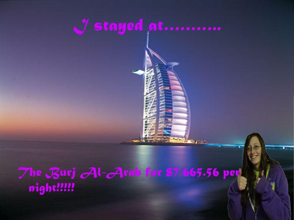 My trip to dubai by ali schoepflin ppt video online for Burj al arab per night