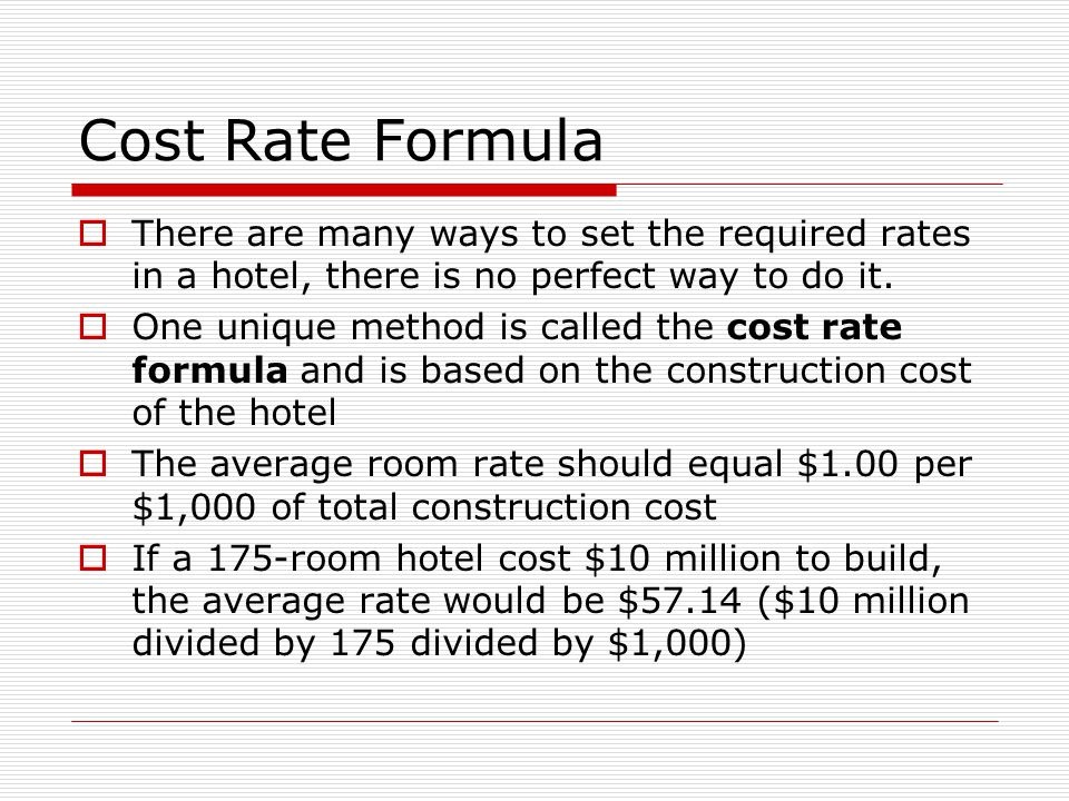 HOTEL MANAGEMENT Room Rate Structure. - ppt video online ...