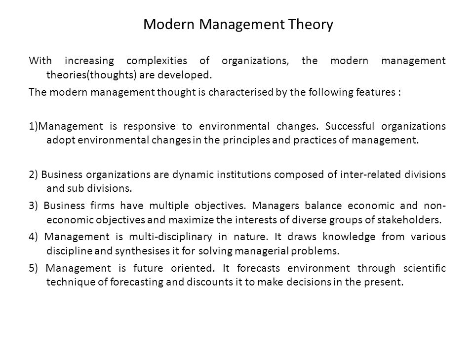 modern organisation using scientific management Frederick w taylor: the principles of scientific management, 1911 frederick w taylor was a mechanical engineer whose writings on efficiency and scientific.