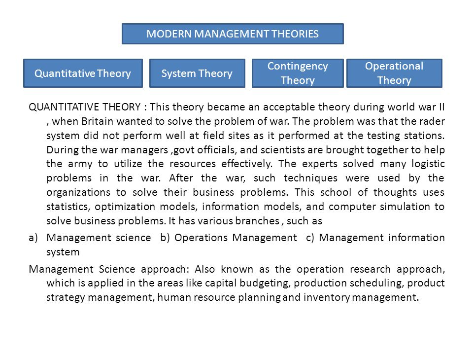 contingency theory in modern organizations An example of the contingency approach is in business management when a manager deals  what are examples of a contingency  theory contingency approach in.