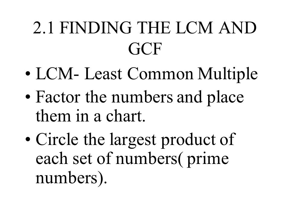 Least Common Factor Chart Ibovnathandedecker