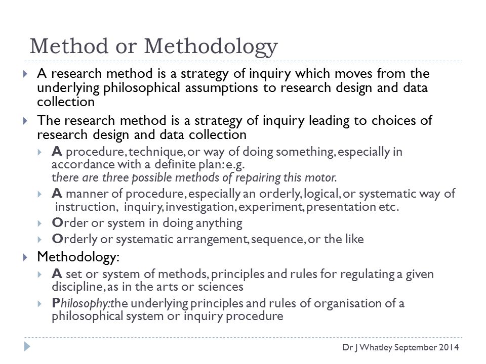 research paper methodology parts
