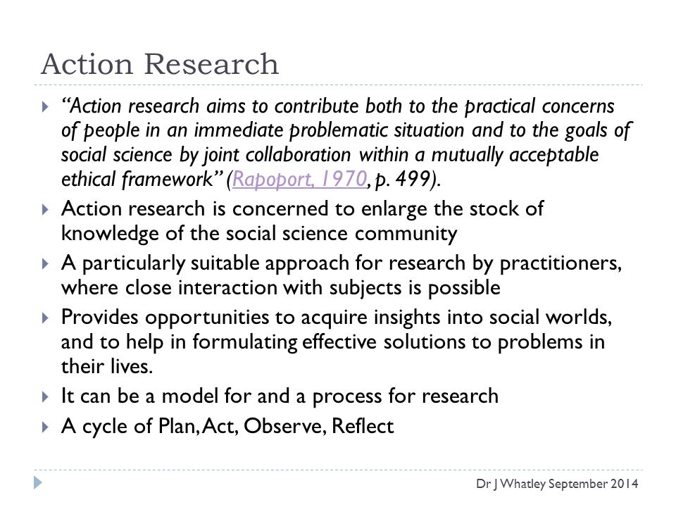 Action Science: Concepts, Methods, and Skills for Research and Intervention