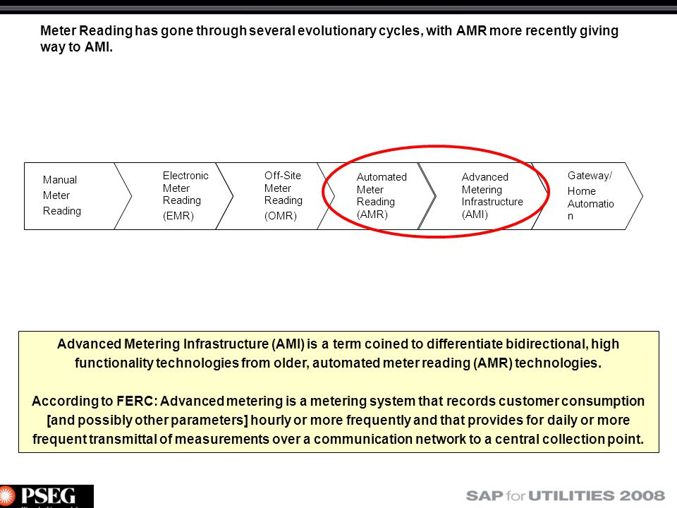 Enabling The Smart Grid With Ami And Sap At Pse Amp G Ppt