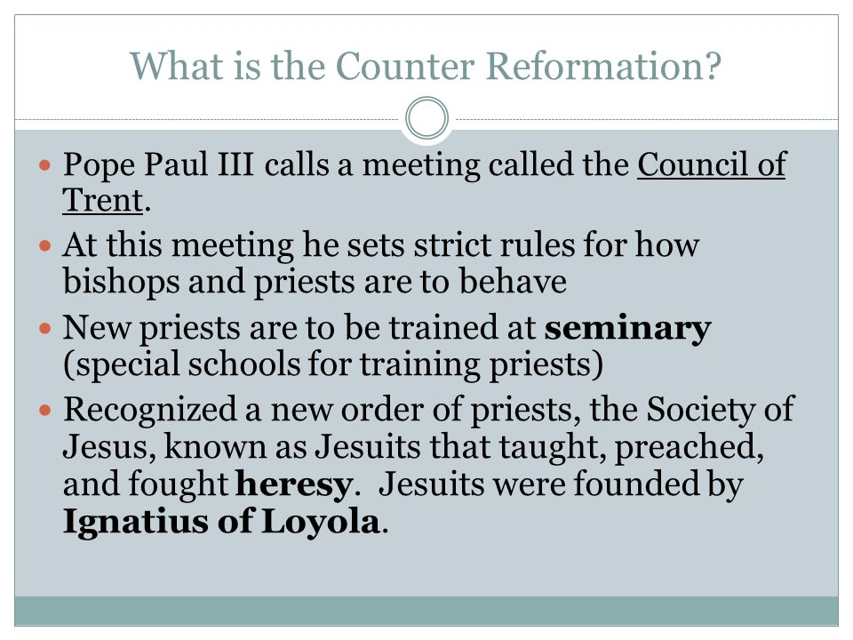 understanding counter reformation essay Access to over 100,000 complete essays and the catholic response to it is called the counter reformation one must begin by studying and understanding.