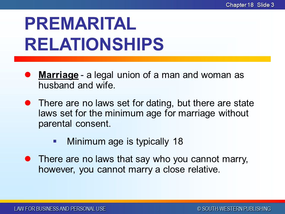 What is the law of dating age