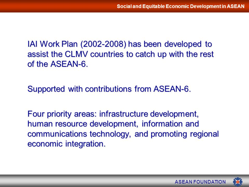 Social and Equitable Economic Development in ASEAN - ppt ...