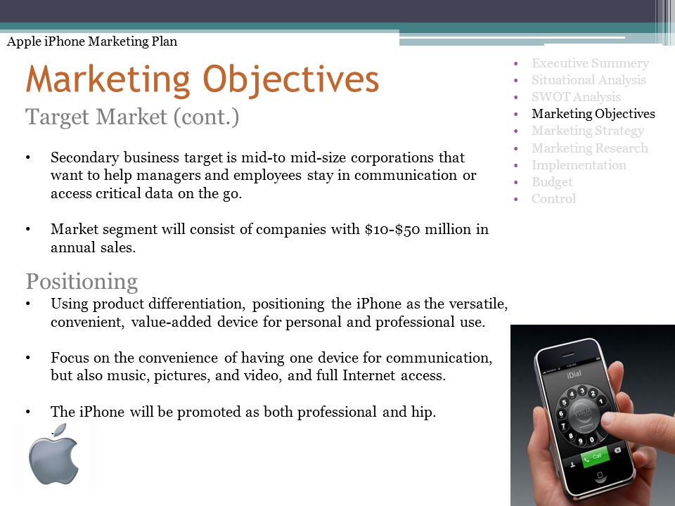apple ipod product objectives and marketing strategies Apple's ipod: a bite of innovation marketing planpresented by:  apple ha created a product with a broad appeal and it has marketed the ipodbrilliantly, .