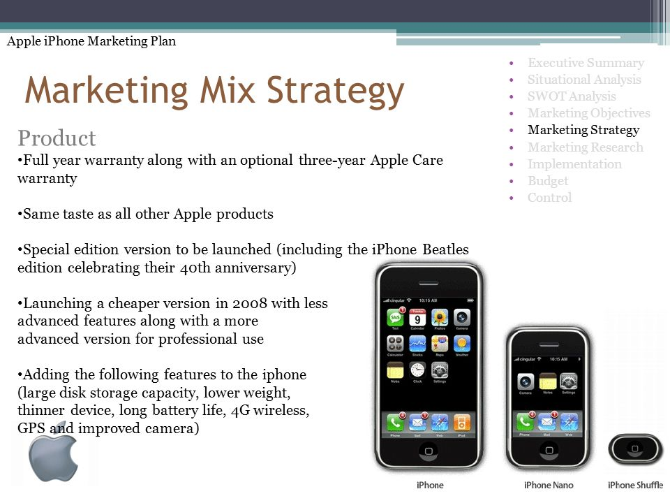 marketing mix apple Introduction apple incorporation is an american technology company that specializes in the design, development and selling of consumer electronics and software.