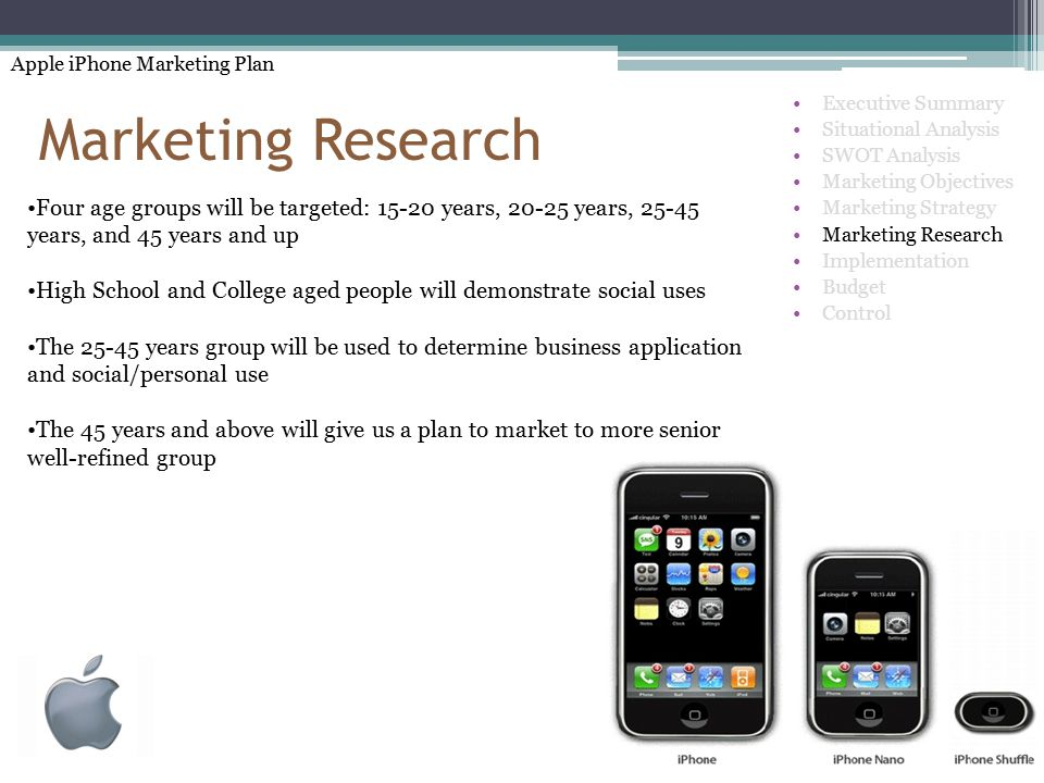 apple ipod product objectives and marketing strategies This report will provide some insight into apple's product objectives, marketing strategies, introduction phase, product growth, maturity stage, and decline of product in the market place we will write a custom essay sample on.