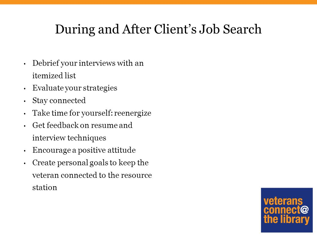 Veteran S Job Search Strategies Ppt Download