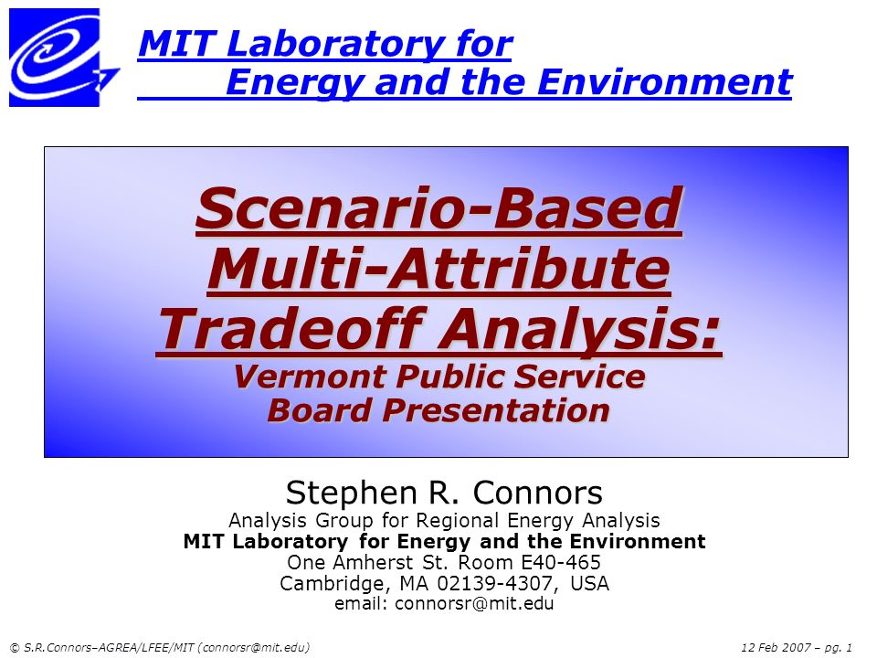 MIT Laboratory for Energy and the Environment