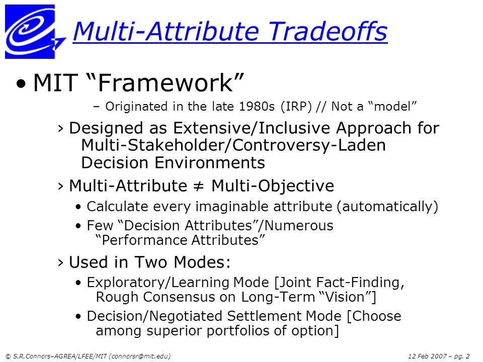 Multi-Attribute Tradeoffs