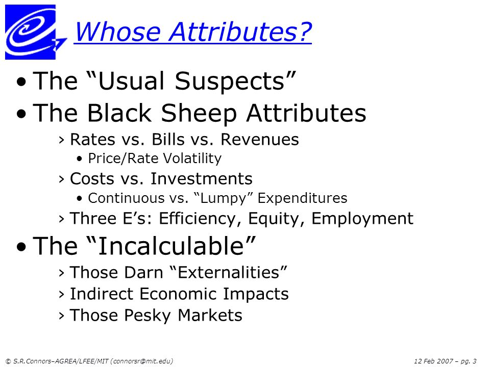 Whose Attributes The Usual Suspects The Black Sheep Attributes