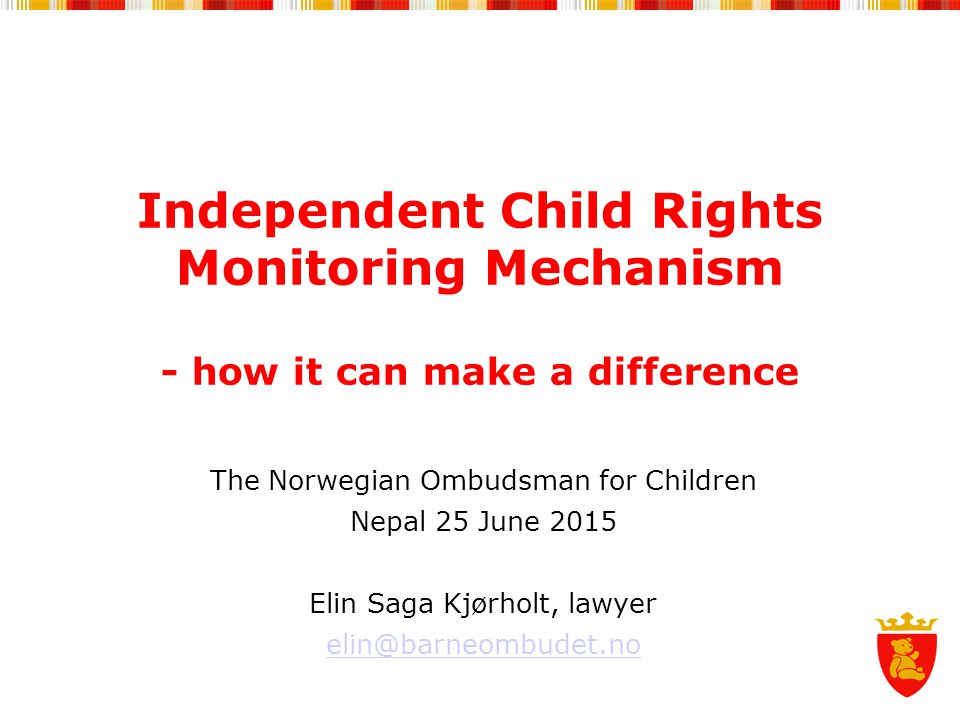 Independent Child Rights Monitoring Mechanism - how it can make a difference