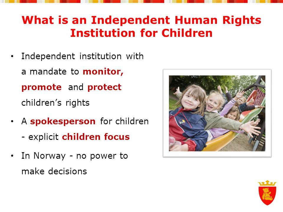 What is an Independent Human Rights Institution for Children