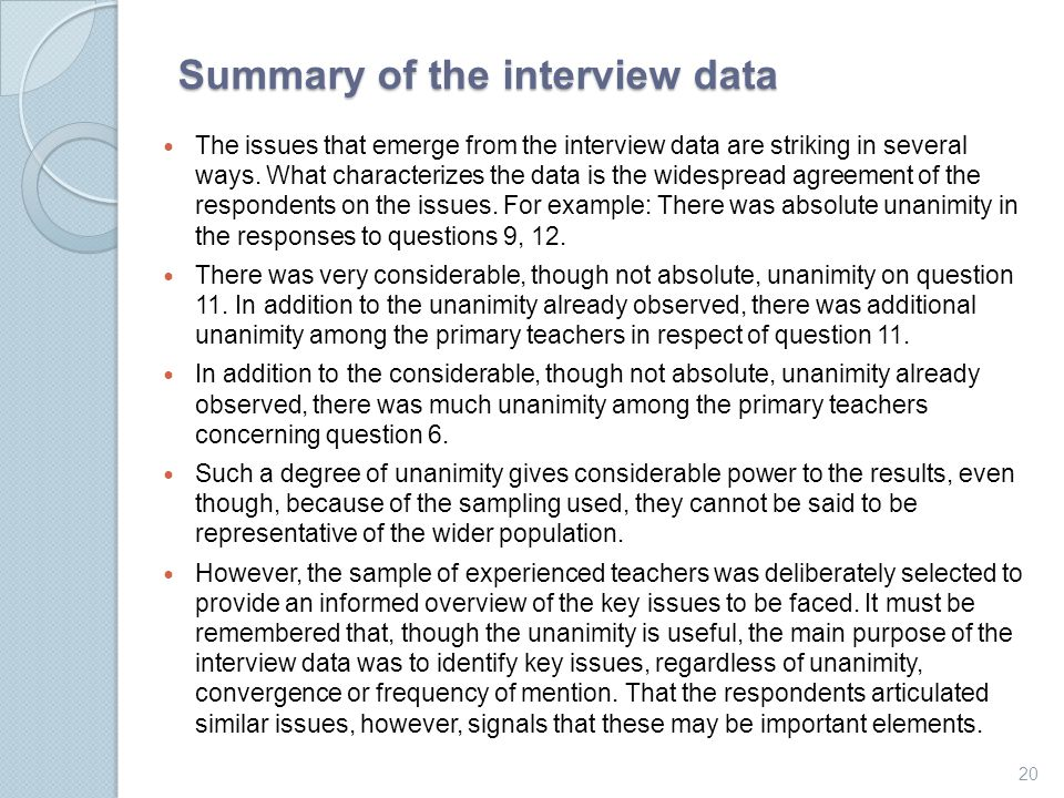 analysis of issues relevant to interviews It includes details about interviews  there are a few issues that researchers must  analysis is a type of primary research that involves.