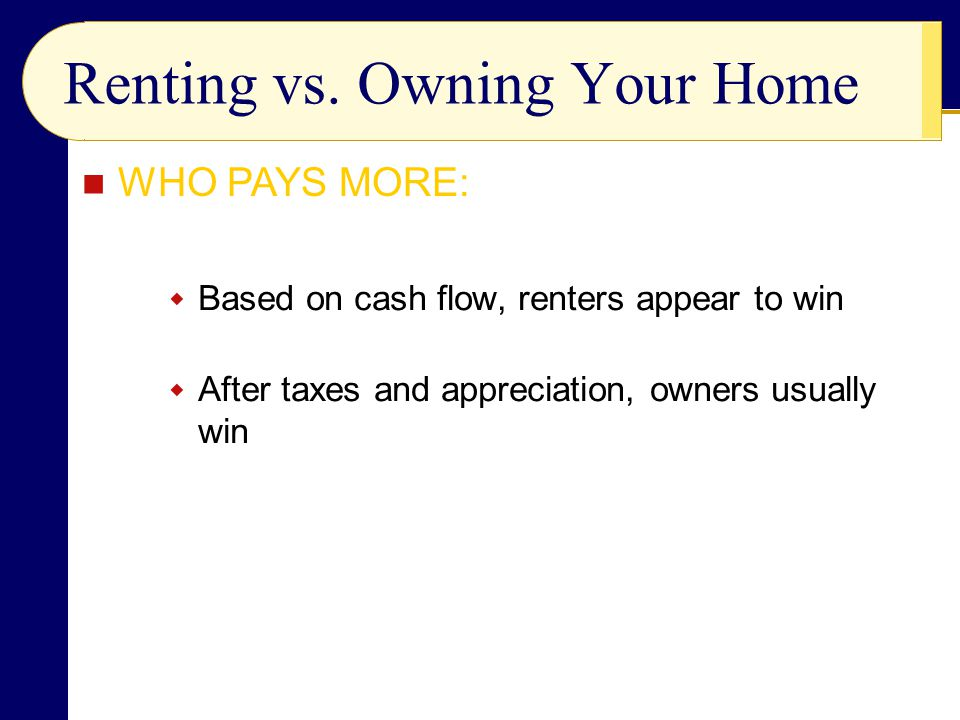 Renting vs. Owning Your Home