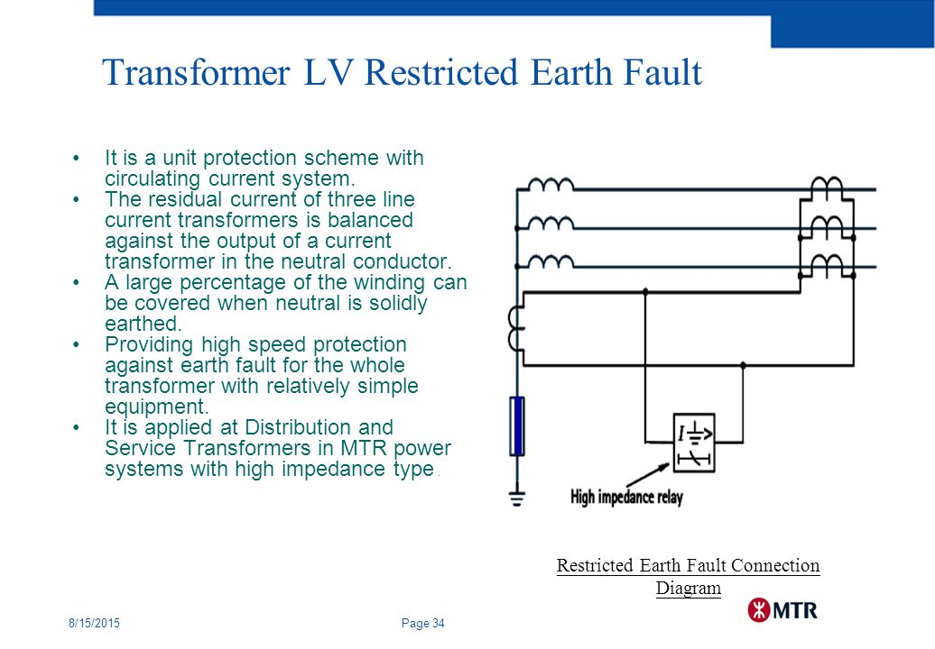 ref protection of transformers Restricted earth fault (ref) protection is basically a differential protection the  only difference in between the differential protection and ref.