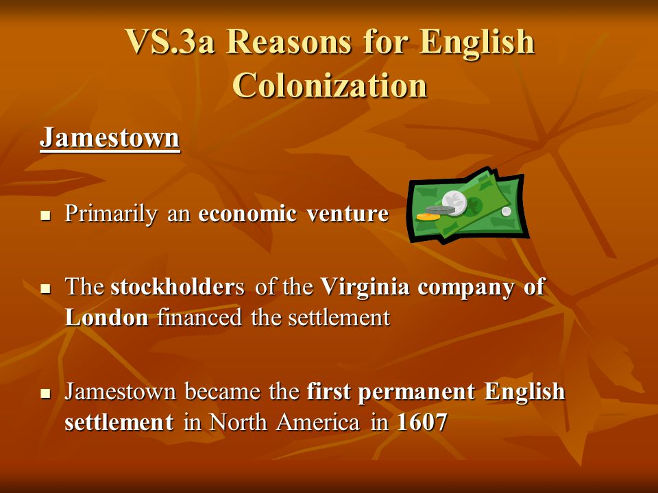 english motives for colonization in north History 1700 american civilization lecture 2 - colonization of north america motives for colonization religious freedom economic freedom political freedom.