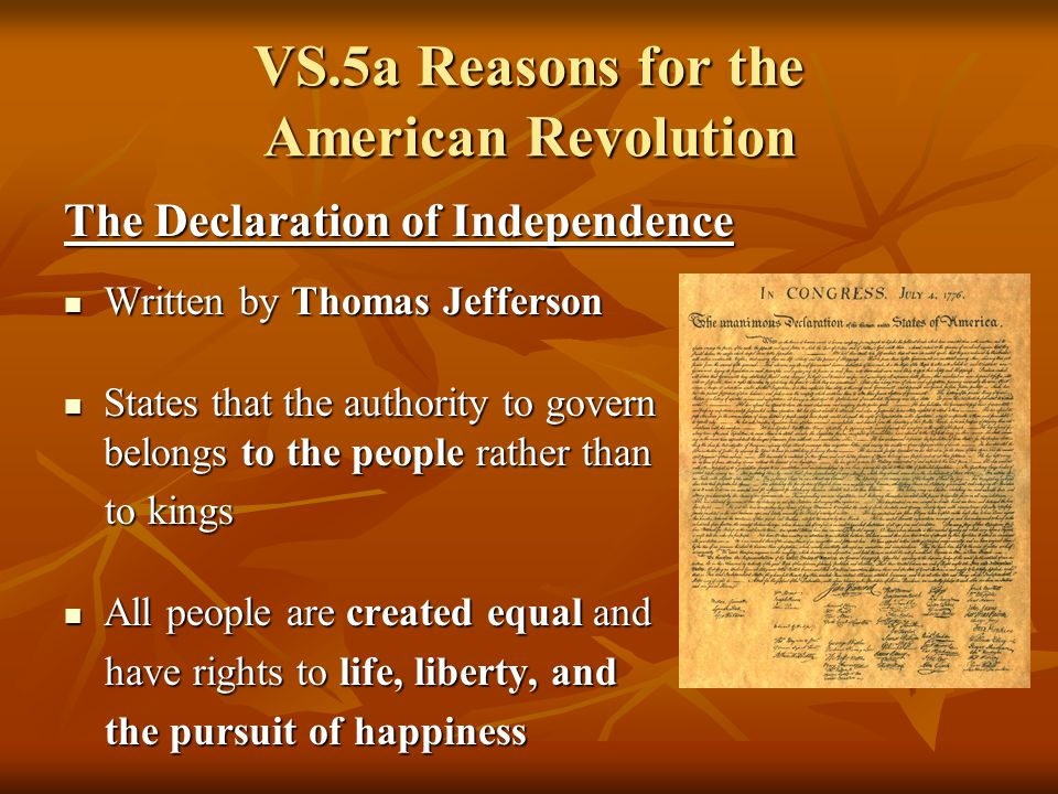 reasons for the american revolution Reasons behind the revolutionary war by william s price, jr reprinted with  permission from the tar heel junior historian fall 1992 tar heel junior.