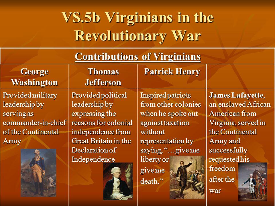 virginians in the revolutionary war