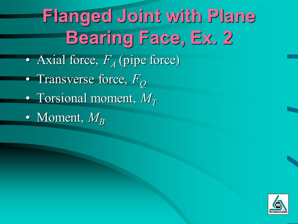 Flanged Joint with Plane Bearing Face, Ex. 2