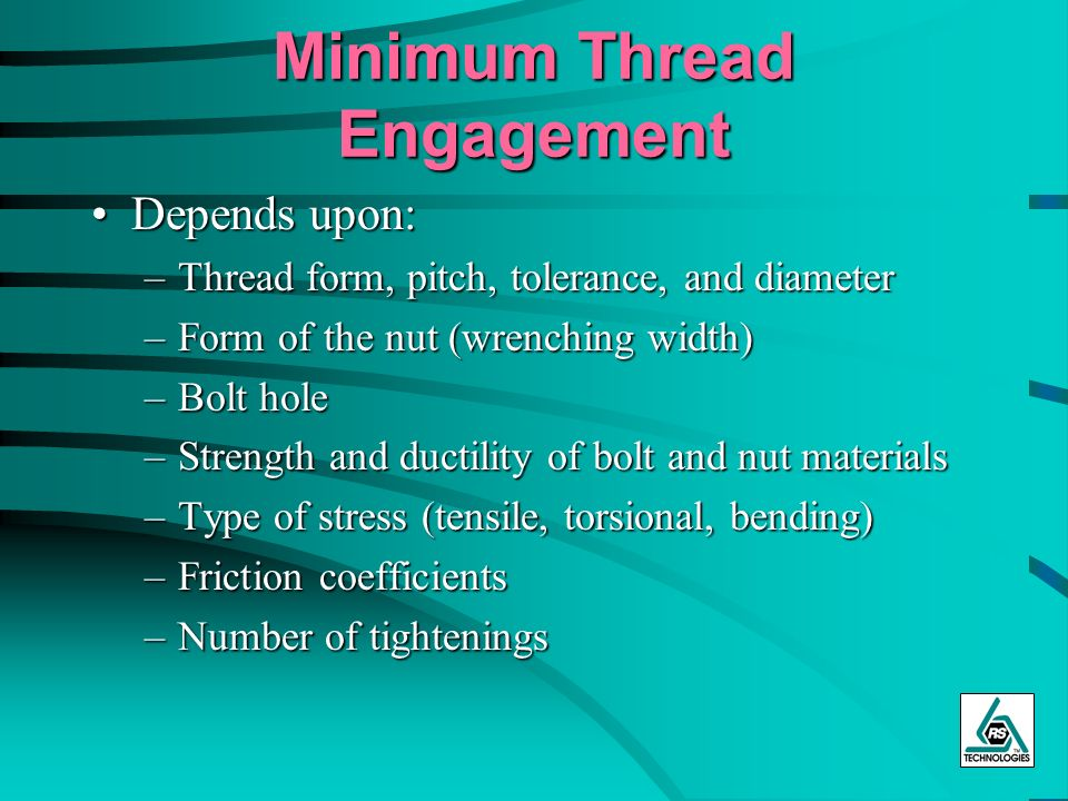Minimum Thread Engagement