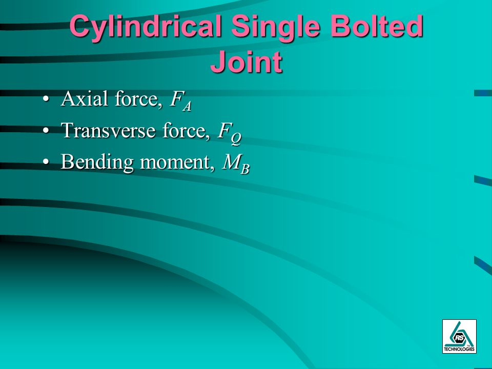 Cylindrical Single Bolted Joint