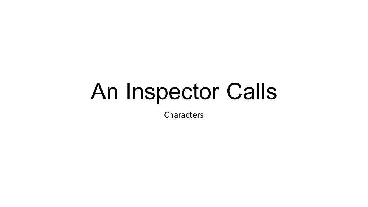 inspector goole character
