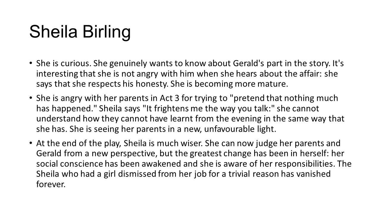 sheila birling character profile