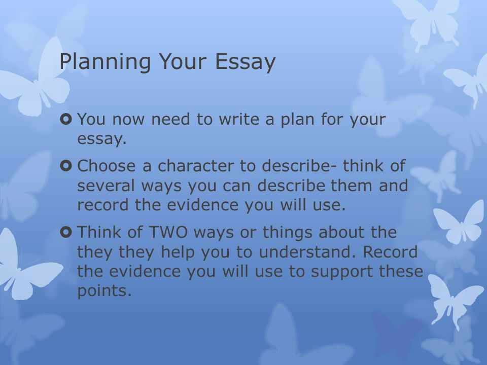 ways to plan your essay Building the essay draft here are some ways of linking paragraphs it's alright if you've shifted from your original plan.