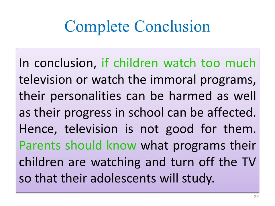 Children watch too much television essay