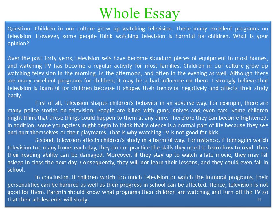 persuasive essay on tv violence Speech 100.