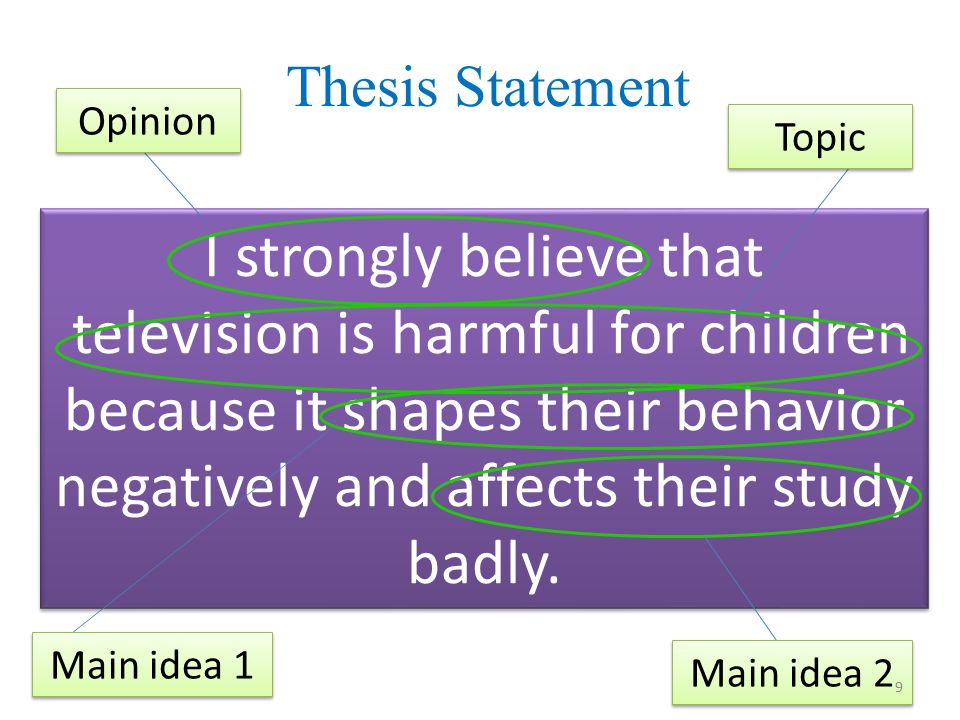 thesis statement about television Can someone help me out with the thesis statement please im not sure whether while there are many concerned people convinced that watching television makes people brain-dead, you might well be surprised that watching television can actually make you smarter is a good thesis statement for.