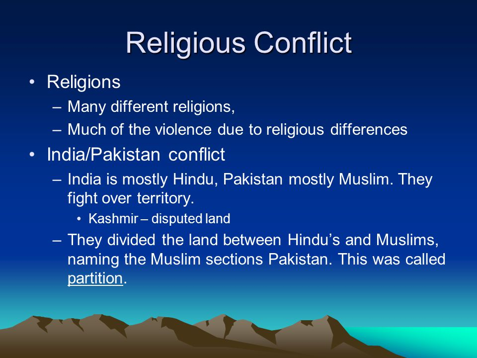 india and pakistan religious differences in a relationship