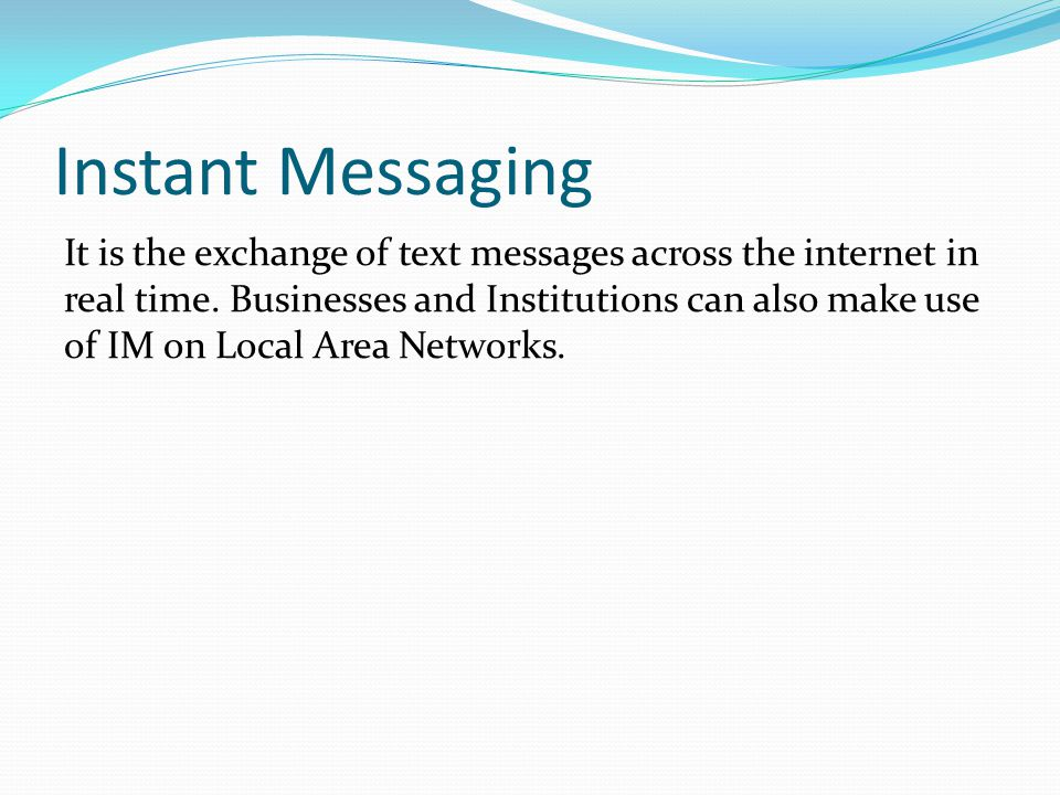 Instant Messaging And Emails : Computer networks ppt video online download