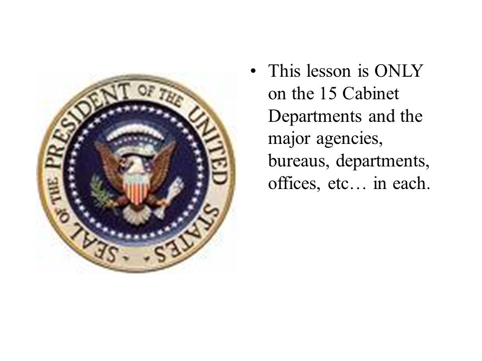 Executive Department Worksheet - ppt video online download