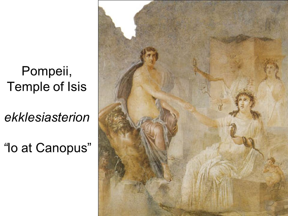 Pompeii, Temple of Isis ekklesiasterion Io at Canopus