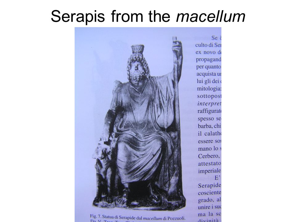 Serapis from the macellum