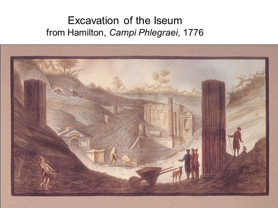 Excavation of the Iseum from Hamilton, Campi Phlegraei, 1776